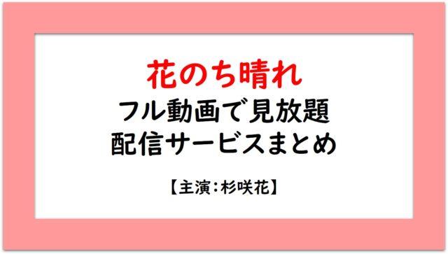 無料 ドラマ のち 花 晴れ